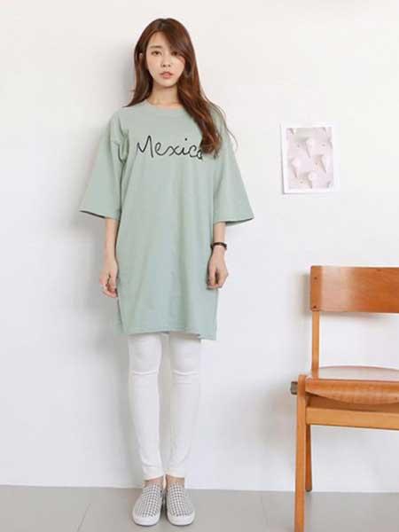 熠品原初女装品牌2019春夏新款韩版圆领休闲显瘦字母印花短袖T恤