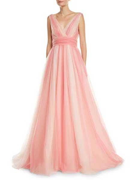 Gareth Pugh加勒斯・普女装品牌2019春夏新款气质优雅长裙高腰显瘦雪纺宴会晚礼服