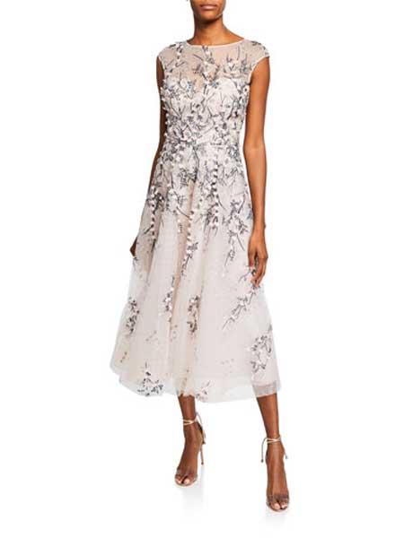 Gareth Pugh加勒斯・普女装品牌2019春夏新款修身显瘦优雅礼服宴会连衣裙