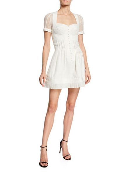 菲利林3.1女装品牌2019春夏新款法式复古裙过膝仙女裙裙白色很仙的小众连衣裙