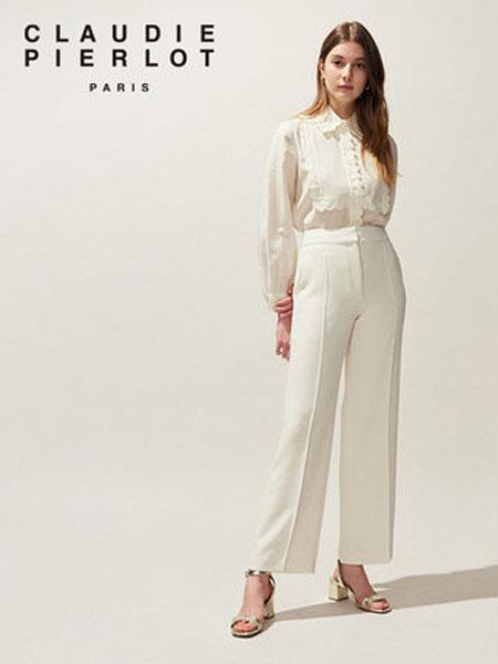 Claudie Pierlot女装品牌2019春夏新款纯色宽松直筒休闲裤