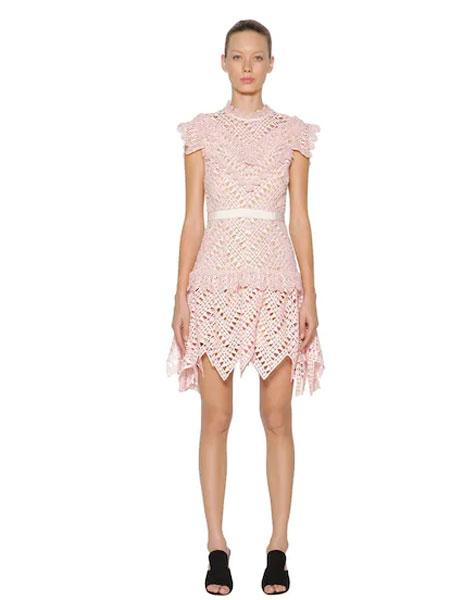 Libertine女装品牌2019春夏新款时尚修身甜美蕾丝连衣裙
