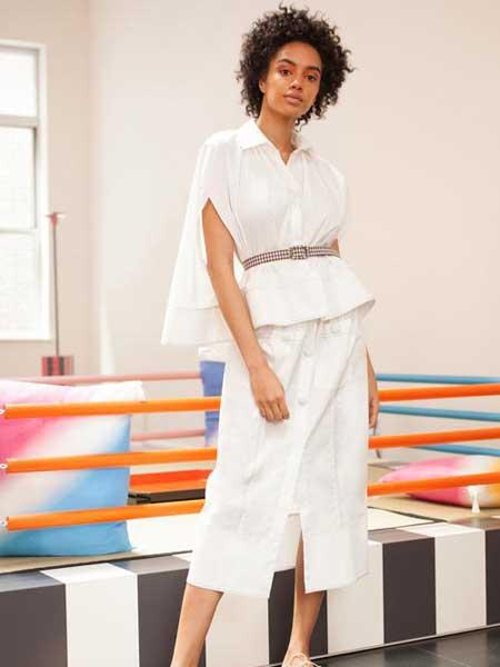 Rosie Assoulin女装品牌2019春夏新款时尚修身收腰显瘦两件套连衣裙