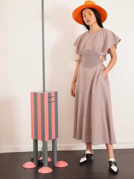 Rosie Assoulin女装品牌2019春夏新款时尚气质收腰显瘦连衣裙