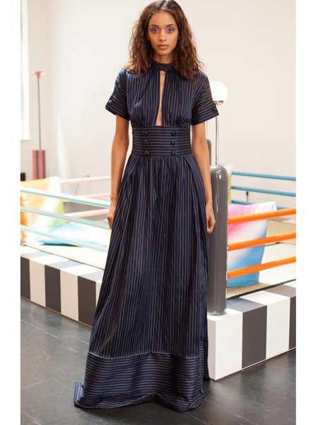 Rosie Assoulin女装品牌2019春夏新款修身气质收腰显瘦连衣裙