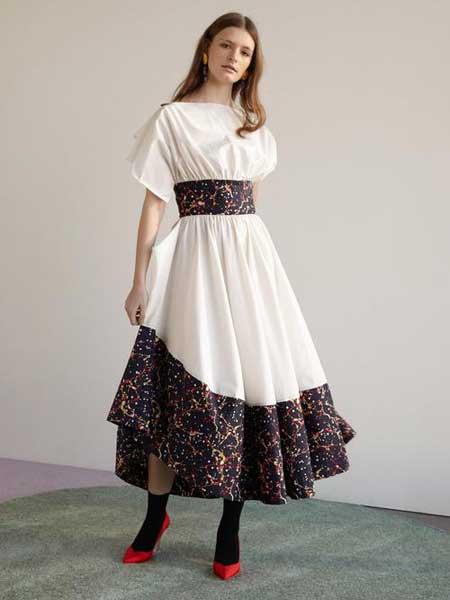 Rosie Assoulin女装品牌2019春夏新款时尚优雅气质收腰显瘦礼服裙