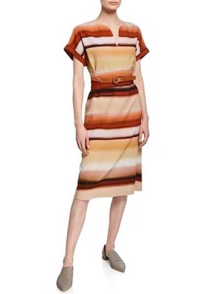 Holly Fulton霍莉·富尔顿女装品牌2019春夏新款时尚流行优雅气质收腰显瘦连衣裙