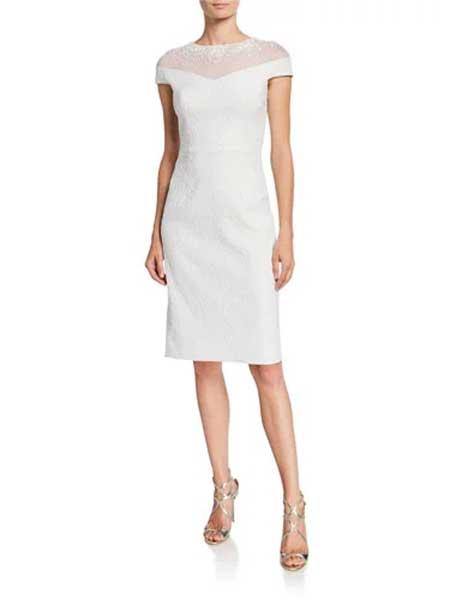 Holly Fulton霍莉·富尔顿女装品牌2019春夏新款白色镂空百搭修身针织衫连衣裙