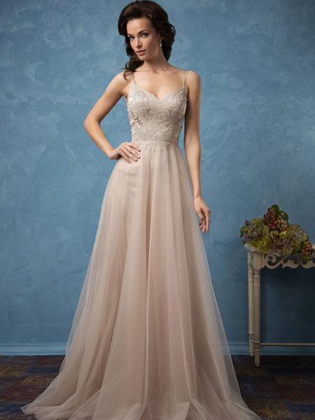Amelia Sposa女装品牌2019春夏新款法式森系简约超仙新娘婚纱礼服
