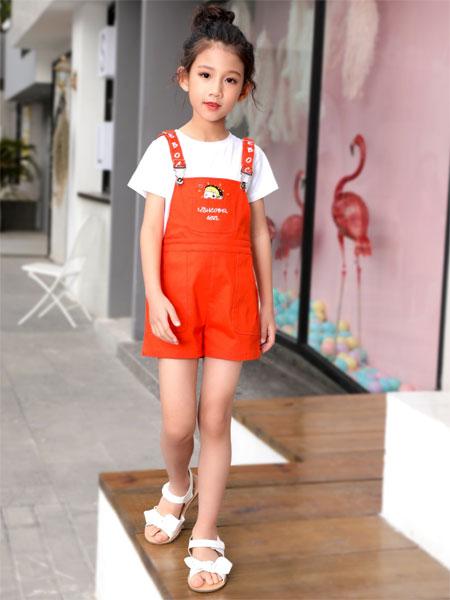 快乐精灵童装品牌2019春夏新款韩版洋气连衣裙