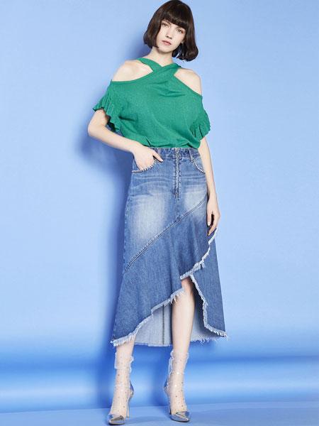 mia mia女装品牌2019春夏新款韩版宽松洋气挂脖一字肩性感上衣