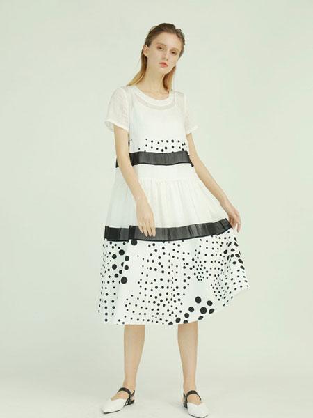 子容女装品牌2019春夏宽松娃娃衫圆领短袖亮片上衣T恤