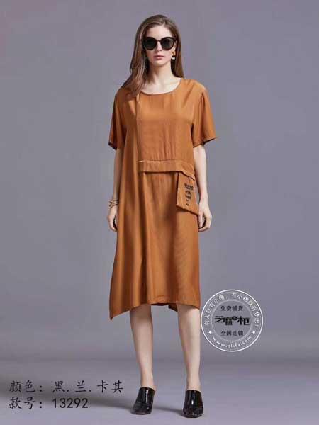 格蕾斯女装品牌2019春夏新款文艺宽松大码休闲中裙纯色显瘦A字裙棉短袖连衣裙
