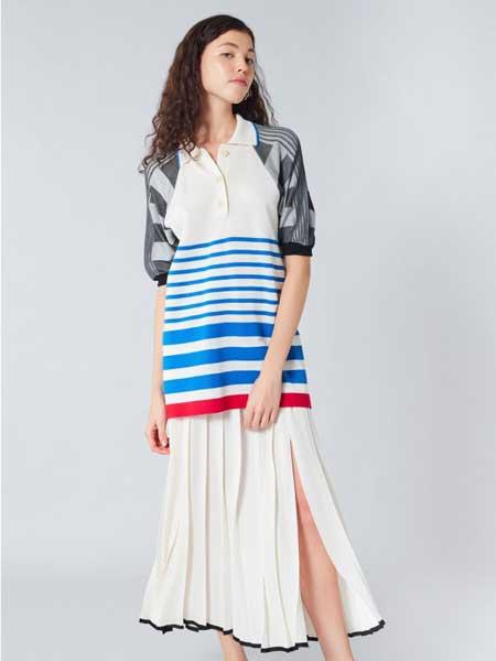 索尼亚·里基尔之索尼亚女装品牌2019春夏新款韩版收腰显瘦连衣裙