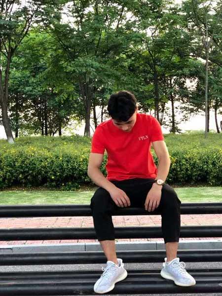 奥克男装品牌2019春夏新款韩版时尚宽松休闲百搭圆领短袖T恤