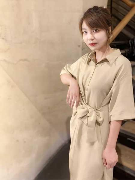 幻彩四季女装品牌2019春夏新款韩版显瘦优雅百搭气质中长款连衣裙
