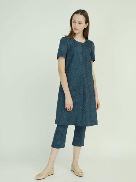 子容女装品牌2019春夏中长款时尚拼接连衣裙短袖衬衫舒适休闲裙
