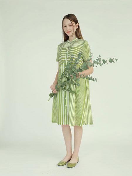子容女装品牌2019春夏休闲文艺气质宽松显瘦春款七分袖裙