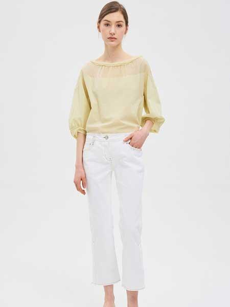 SJSJ女装品牌2019春夏新款韩版显瘦减龄喇叭裤子白色高腰牛仔裤
