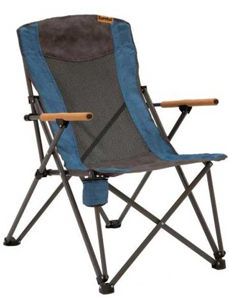 Eureka!户外品牌2019春夏家用月亮椅休闲办公室折叠椅子野营靠椅便携沙滩椅钓鱼椅凳子