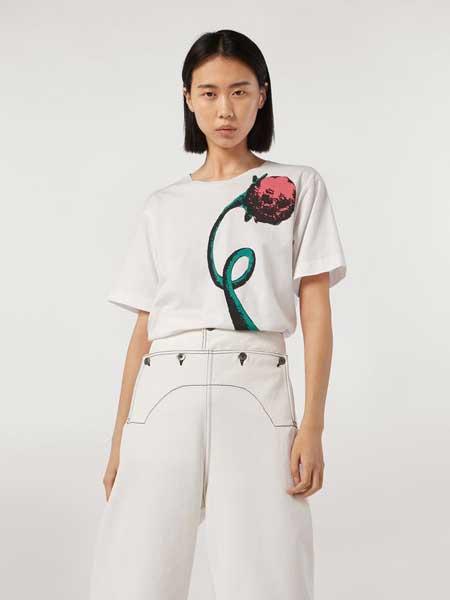 MARNI女装品牌2019春夏新款韩版时尚宽松百搭圆领短袖T恤