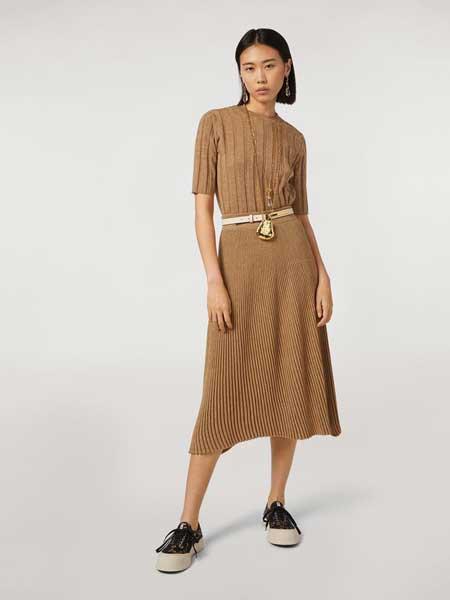 MARNI女装品牌2019春夏新款高腰中长宽松百搭复古款A字裙大摆裙半身裙