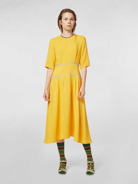 MARNI女装品牌2019春夏新款高端气质修身大摆裙气质显瘦雪纺长裙