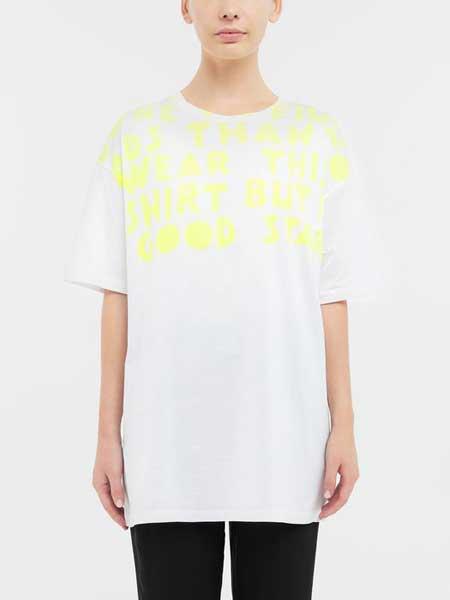 马吉拉时装屋女装品牌2019春夏新款时尚休闲宽松百搭圆领短袖T恤