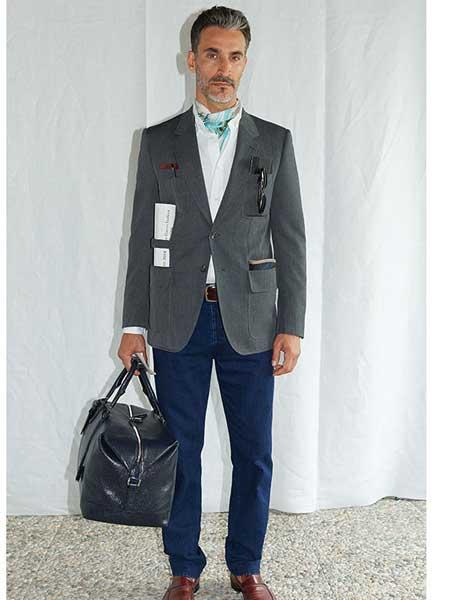 Brioni布里奥尼男装品牌2019春夏新款韩版高品质修身纯色西装潮双排扣免烫西服外套