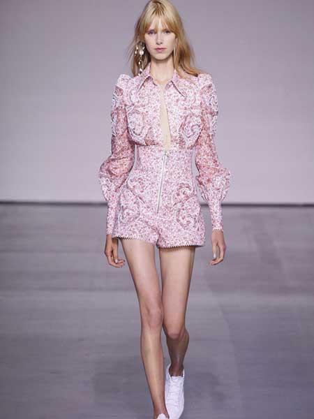 Zimmermann女装品牌2019春季新款时尚收腰显瘦连体裤短裤