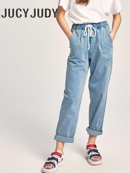 JUCY JUDY女装品牌2019春夏新款薄款宽松显瘦直筒牛仔裤