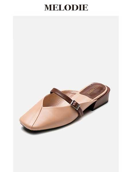 麦露迪鞋帽/领带品牌2019春夏新款凉拖鞋外穿时尚包头半拖鞋女粗跟
