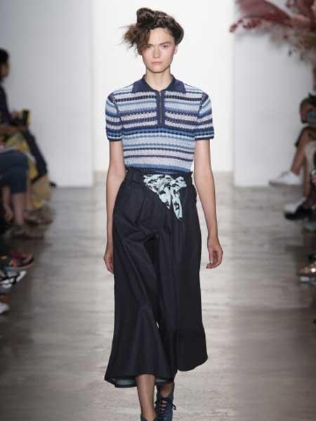 Adam Selman女装品牌新款高腰时尚休闲裤宽松显瘦直筒长裤子
