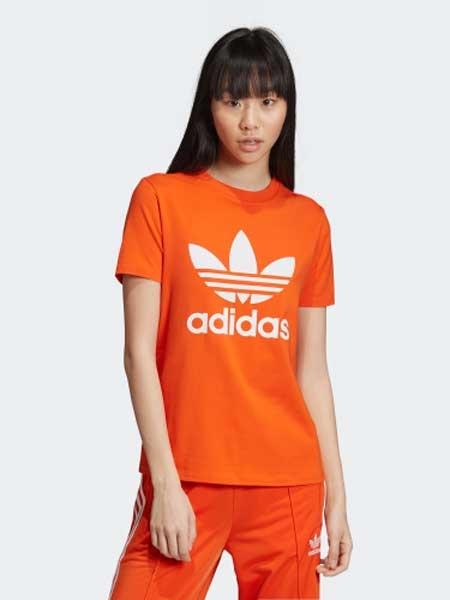 阿迪达斯运动装品牌2019春夏新款休闲T恤圆领透气短袖