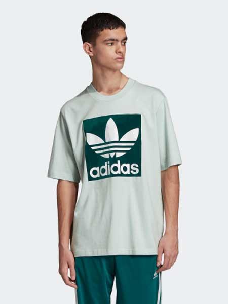 阿迪达斯运动装品牌2019春夏新款时尚运动休闲圆领短袖T恤