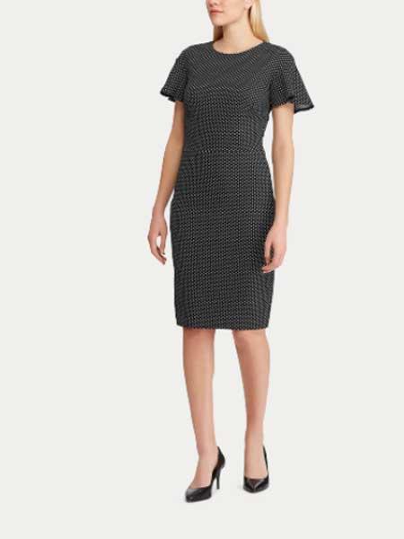 Lauren Ralph Lauren女装品牌2019春夏新款成熟简约修身连衣裙