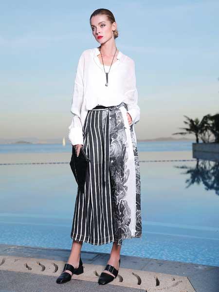 孚合女裝品牌2019春夏新款純棉白色襯衫女時尚洋氣韓版寬松休閑百搭上衣潮