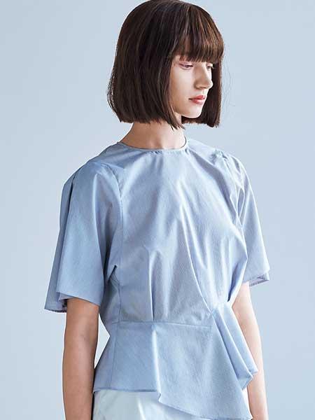 Hanae Mori森英惠女装品牌2019春夏新款时尚百搭短袖上衣