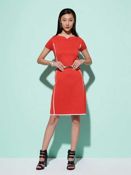 上海滩女装品牌新款时尚性感韩版修身显瘦连衣裙
