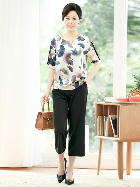 醉影女装品牌2019春夏新款时尚气质洋气短袖T恤