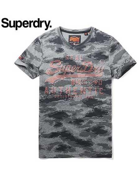 极度干燥休闲品牌2019春夏新款迷彩t恤短袖潮休闲字母印花短袖上衣