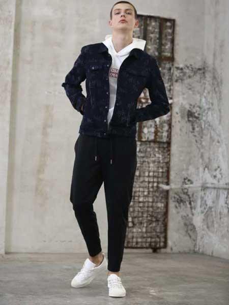 玖生活男装品牌新款韩版潮流休闲牛仔夹克外套
