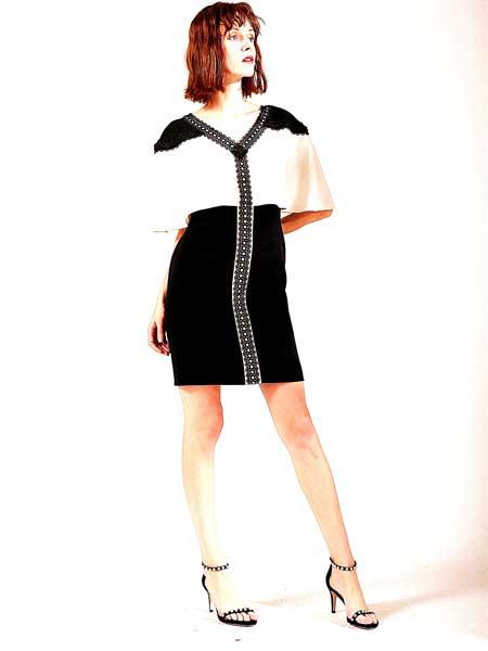 FIFILAPIN女装品牌2019春夏新款时尚性感连衣裙个性两穿收腰显瘦包臀裙
