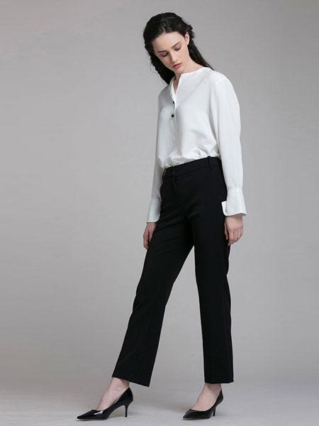 it MICHAA女装品牌2019春夏通勤风微喇长裤优雅修身裤
