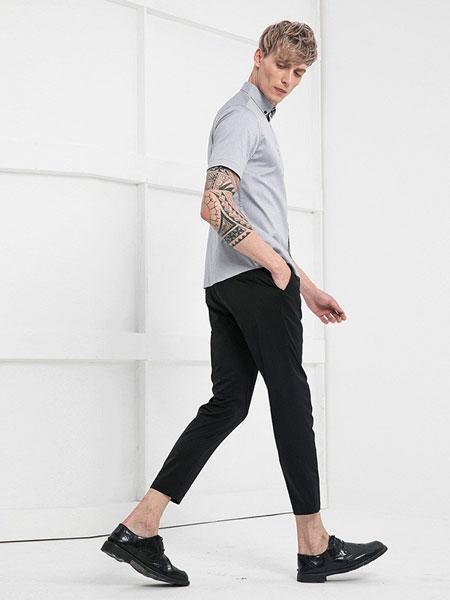 V.SHOLIDAY男装品牌2019春夏新品短袖拼接潮流短袖衬衫
