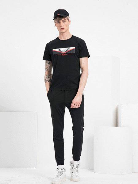 V.SHOLIDAY男装品牌2019春夏新品休闲纯色印花上衣圆领短袖T恤