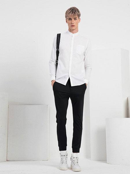 V.SHOLIDAY男装品牌2019春夏新品舒适修身休闲运动裤子