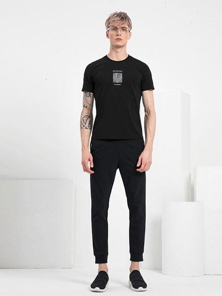 V.SHOLIDAY男装品牌2019春夏新品短袖刺绣商务百搭个性短袖