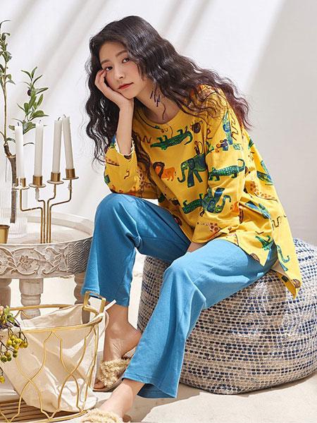 黛梦思内衣品牌2019春夏长袖卡通动漫宽松甜美可爱少女家居服