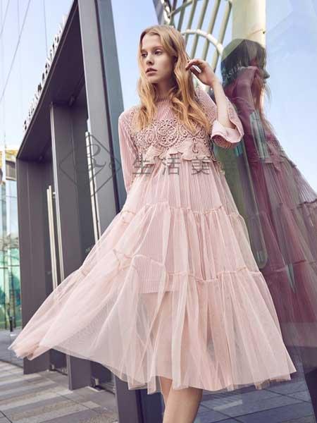 37°生活美学女装品牌2019春夏新款韩版长裙中长款潮时尚连衣裙
